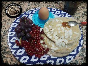 pancake con farina di avena